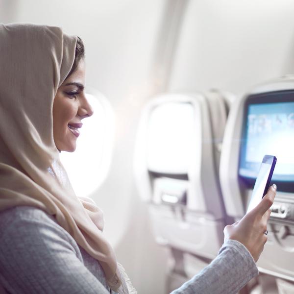 On board saudia