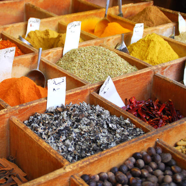 market spices middle east